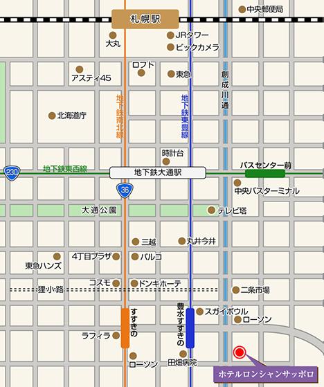 駅・周辺施設からのアクセス地図